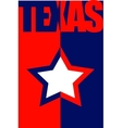 texas state flag vector image vector image