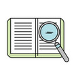 text book with magnifying glass vector image vector image