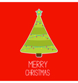 Triangle Christmas tree with lights Merry Christma vector image vector image
