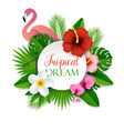 tropical dream paper cut vector image vector image