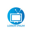 tv logo design template vector image vector image
