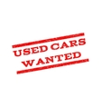 Used Cars Wanted Watermark Stamp vector image vector image