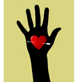 Valentines day heart in hand vector image vector image
