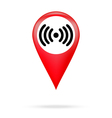 Wi fi icon in red pointer vector image vector image