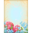 Romantic floral invitation design vector image