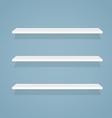 Flat shelves vector image
