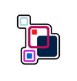 abstract element icon vector image vector image