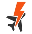 Airplane Shock Icon vector image vector image
