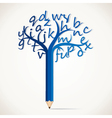 alphabetical tree stock vector image vector image