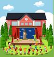 an outdoor stage performance vector image