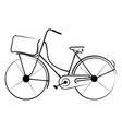 ancient bicycle 0005 vector image