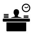 appointment icon male person avatar symbol desk vector image