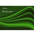 Artistic green fabric texture background vector image