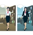 Asian Businesswoman in office interior vector image vector image