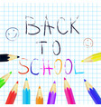 back to school poster education background set vector image vector image