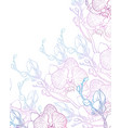 background with orchids vector image