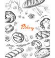 bakery corporate identity bakery shop set vector image vector image