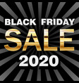 black friday sale golden on dark vector image