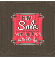 brown christmas background and sale offer label vector image vector image