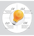 bulb idea graphic 4 steps template vector image