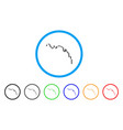 candlestick chart down rounded icon vector image vector image
