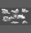 clouds set and sun transparent background vector image