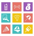 Color icons for Web Design set 36 vector image