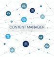 content management trendy web template with simple vector image