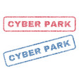 cyber park textile stamps vector image vector image