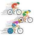 Cyclists in bicycle racing characters flat vector image vector image