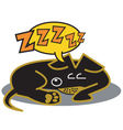 Dachshund sleeping vector | Price: 1 Credit (USD $1)