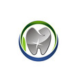 dental care logo design template vector image vector image