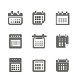 different styles calendar web icons collection vector image