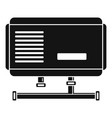 electric boiler icon simple style vector image