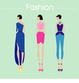 Fashion set dress design vector image vector image
