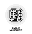 Finance Management Line Icon vector image