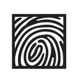 finger print light vector image vector image