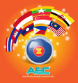 Flag of Asean Economic Community AEC 03 vector image
