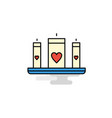 flat love candles icon vector image vector image