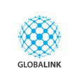global link globe world line logo concept design vector image vector image