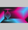 glowing mystic 3d ball blue-pink gradient energy vector image vector image