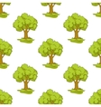 Green tree seamless background pattern vector image vector image