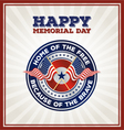 Happy Memorial Day Badge vector image vector image
