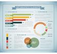Infographics retro blue