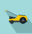 lawn mower icon flat style vector image