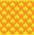 maple leaves seamless yellow orange art vector image vector image