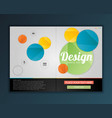 modern abstract brochure report or flyer design vector image vector image