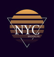 nyc print typography design new york pattern on vector image vector image