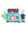 on air color flat vector image
