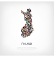 people map country Finland vector image vector image